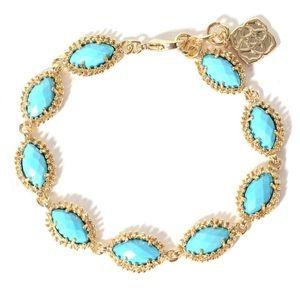 KENDRA SCOTT ✨ Jana Oval Bracelet in Turquoise